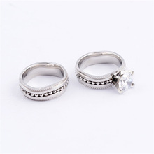 New fashion classic silver 316L stainless steel lovers latest wedding ring designs