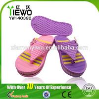 2014 Low Price&butterfly ornament EVA flip flops shoe for kids