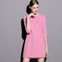 NZ1357 fashion style three quarters sleeve fitted dress for women