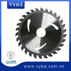 Wood cutting saw blade with special steel body