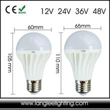 Low Voltage 12V 24V 36V 48V AC DC Marine or Solar E27 LED Light Bulb