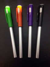 2014 writing well and cheap promotional pen with led light