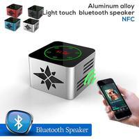Portable multifunction Light touch aluminum alloy bluetooth speaker,NFC bluetooth speaker Enhanced Bass Audio Sound for Iphone6