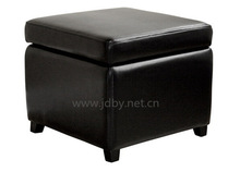 Home furniture modern square wooden stool ottoman stool