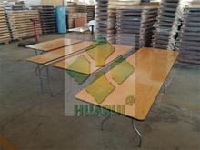 table metal edge / wood trestle table / aluminum folding table legs