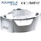 Indoor corner acrylic apron massage double whirlpool bathtubs