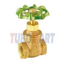 manufacturing stem gate valve of brass made in china