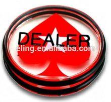 Pro Dealer Button/Casino Grade Poker Dealer Button accessories for garment industry