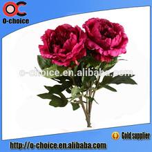 venta al por mayor de peonía arreglos de flores artificiales corona de flores para el funeral