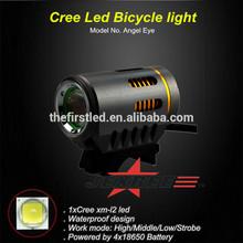 Jexree de luz delantera posición y fuente de alimentación de batería led de la bicicleta de la lámpara de la linterna