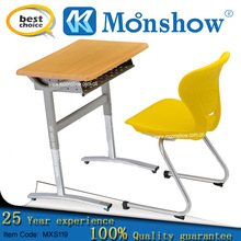 adjustable study table and chair set for school furniture,hot sale plastic chair