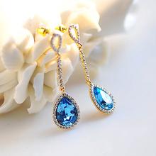 Wholesale jewelry earrings for helix rouge tears earrings white stone stud earrings