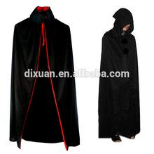 Halloween costume Black Death large cloak hooded long black devil cloak