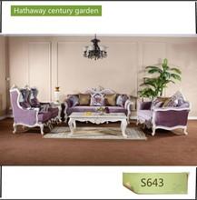 Noble Purple Pleuche Sectional Sofa