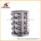 best stainless steel glass revolving spice jar rack