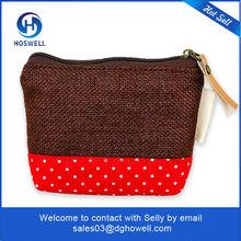 cotton fabric purse organizer in china