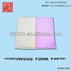 A4 Size Cartonless Continous Computor Form Printing Paper Weight 55gsm