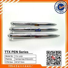 Promotional pen with football team logo, custom logo on roller metal pen