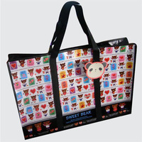 colorful printing pp laminated non woven laundry bag