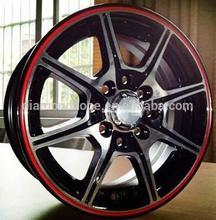 black chrome red lip car alloy wheel 13 inch 14 inch (ZW-W010)
