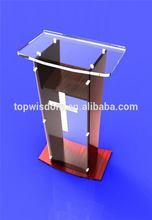 Economic Cheapest crystal plastic acrylic lectern pulpit