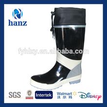 Cheap men motorcycle over shoe black rubber rain boots