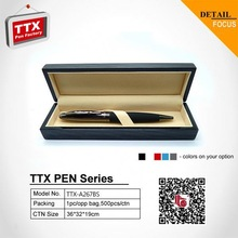 2014 Nice ball pen with gift box, business gift metal spring pen clip