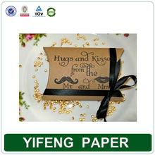 Custom Cheap Price Paper Wedding Favors Pillow Boxes Wholesale