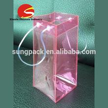 Cheap wholesale pvc wine bag with handle plastic cooler bag