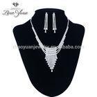 fashion and elegant wedding necklace jewelry set handmade fabric necklace