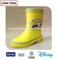 Amarillo de moda custom infantil botas de lluvia botas claras de color