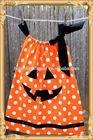 Orange White Polk Dots With Black Ribbon Halloween Dress For Girl 5 Years Girl-party-wear-western-dress Pillowcase Dress