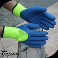 Srsafety hi-viz jaune, couche chemise acylic de travail gant chaud/gants de sécurité