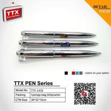 2014 hotest promotional metal retractable ballpoint pen, cutom logo on pen holder, nice metal retractable ballpoint pen