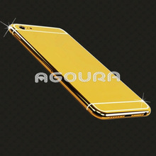 2014 new product bling gold diamond plate for iPhone6
