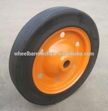 heavy duty solid wheel for wheel barrow/ 13 inch solid rubber wheel