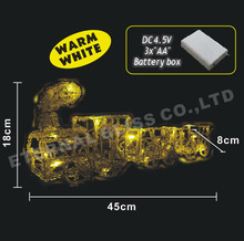 outdoor lighted christmas train led lights with bateries