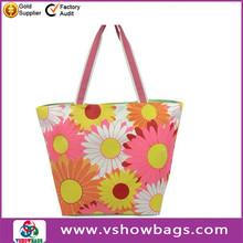 fashion brand 2013 summer beach bag striped canvas beach bag 2012