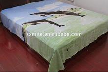 SHAOXING KEQIAO two dolphin dolphin dancing printed designer polar fleece fabric