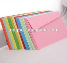 invito caramella a colori di grande busta di carta multicolore