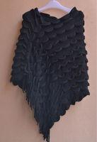 fashion knit tassel cloak poncho wholesale