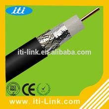 2015 China por atacado de 75 ohm cabo Coaxial RG6 305 M / carretel de madeira