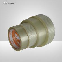 Acrylic glue adhesive fiberglass mesh tape for carton sealing