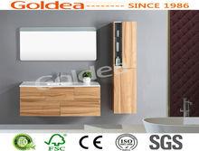 China manufacturer European wooden popular bathroom vanities soft close