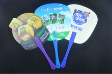 personalized customer shaped plastic hand fans sticks for promotion or event