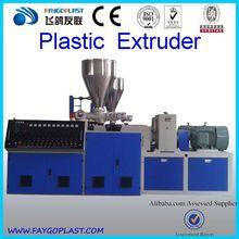 pvc wood plastic composite making machine/extrusion lineSJZ80