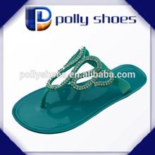 latest design diamond ladies sandal chappal 2014