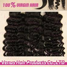5A grade 100% virgin brazilian human hair weave deep curly