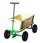 Wooden trailer with flexible front &amp,garden cart/garden wagon