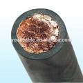 flexible de goma cubierta de cable de soldadura
